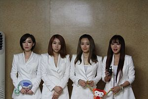 Brown Eyed Girls - The band in 2012