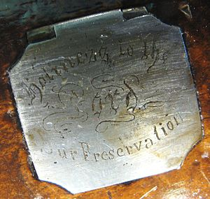 "Jonathan Browning (inventor) - The label on a Browning gun from the Nauvoo period, stating: ""Holiness to the Lord - Our Preservation."""