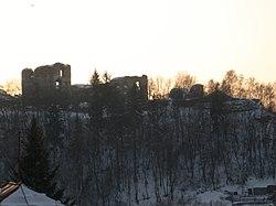 Замок взимку