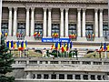Bucuresti, Romania, Cercul Militar National (Ziua Imnului de Stat Desteaptate Romane) (Piata Tricolorului) 2014 (detaliu) (B-II-m-A-19201).JPG