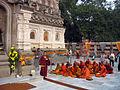 Buddhist pilgrims at Mahabodhi temple.jpg