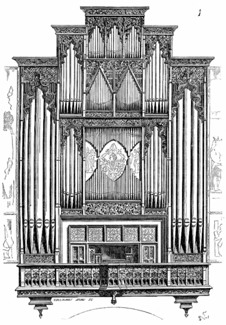 Jean-Nicolas Geoffroy - Organ of Saint-Jean-Baptiste cathedral, in Perpignan