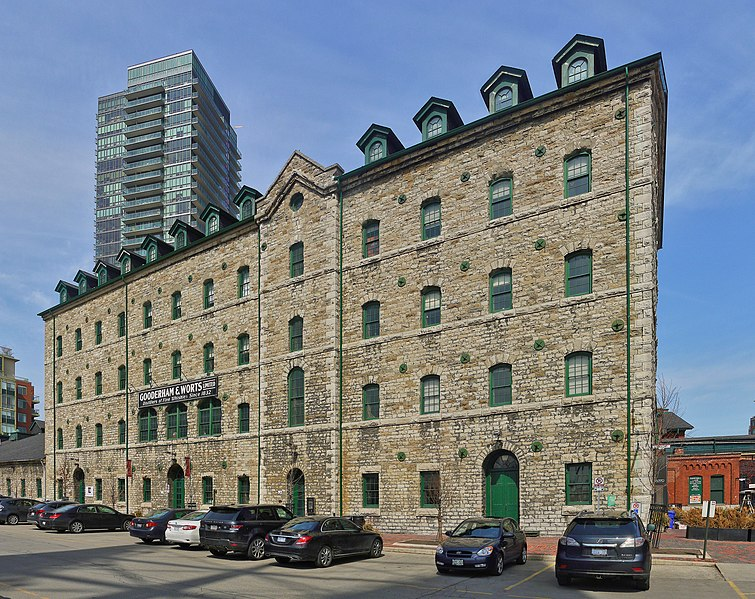 File:Buildings 3 (grist mill) and 5 (stone distillery) of the Distillery District.jpg