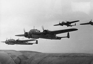 Dornier Do 17 - A formation of Dornier Do 17Zs, circa 1940