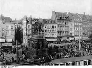 Heumarkt (KVB) - Trams on Heumarkt, circa 1930