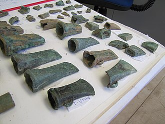 Bronze Age Britain - Socketed axes from a hoard