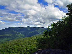 Panther Mountain (New York) - View of Wittenberg and Cornell Mountains from Giant Ledge.