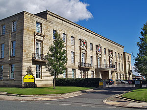 Metropolitan Borough of Bury - Bury Town Hall, the seat of Bury Council