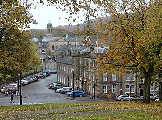 Buxton town in Derbyshire, England
