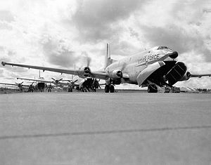 1608th Air Transport Wing - C-124C Globemaster IIs loading cargo about 1960