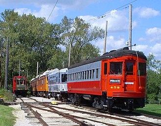 Fox River Trolley Museum - Image: CA&E458 @FRTM