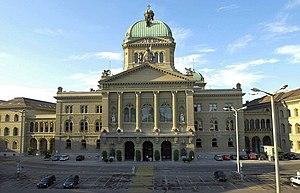 O Pal�cio Federal onde as decis�es nacionais s�o tomadas pelos sete membros do Conselho Federal.