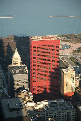 CNA Center - CNA Center's unusual red exterior