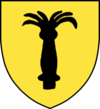 Den tysker-baltiske familie Scherembekes våben, næsten ens Vasaslægtens middelaldervåben, til højre senere Vasa våben fra Gustav Vasas regeringstid.   Begge afbilder et sort mærke, men Gustav Vasas variant afbilder et sort neg i guldfelter.