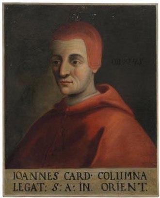 Giovanni Colonna (died 1245) - Portrait of Colonna