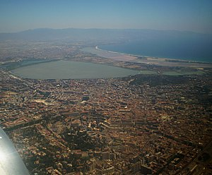 Metropolitan City of Cagliari - Aerial view of Cagliari