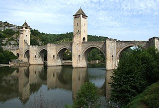 Le pont Valentré sur le Lot à Cahors