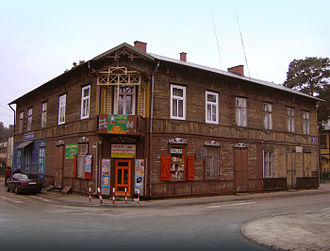 Calel Perechodnik - As a child, Perechodnik lived in this wooden building in Otwock.