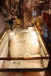 Calvary stone, Holy Sepulchre 2010 6.jpg