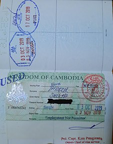 Visa Policy Of Cambodia Wikipedia