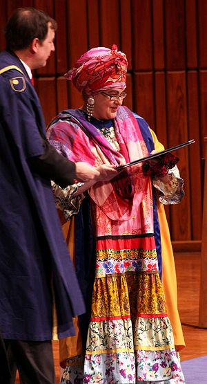 Camila Batmanghelidjh - Batmanghelidjh receiving an honorary degree from the Open University in 2008