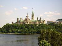Kanada'nın başkenti Ottawa'da Parlamento binası