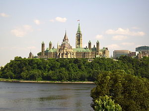 Geography of Ottawa - The Ottawa River outside of Parliament Hill.