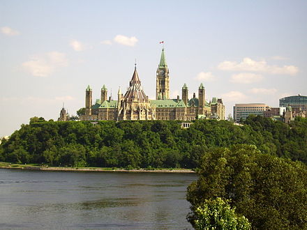 Parliament Hill home of the federal government in Canada's capital city, Ottawa Canadian parliament MAM.JPG