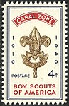 Canal Zone, Boy Scouts, 4c, 1960 Issue.jpg