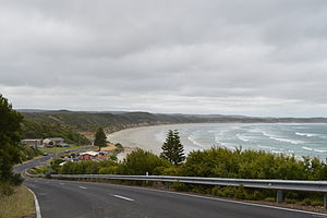 Cape Bridgewater - Looking down towards the Cape Bridgewater foreshore area
