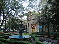 Capilla de San Lorenzo Mártir, en la Ciudad de México, en una toma al atardecer.JPG