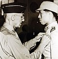 Captain Tsang Hsi-lan is awarded the Silver Star by LTG Stilwell (24542634695).jpg