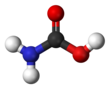 Ball-and-stick model of carbamic acid