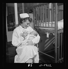 Care of infants is part of every student nurse's training 8b08218v.jpg