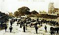 Carhaix 31 Le marché aux chevaux Place de l'église à la fin du XIXe siècle.jpg