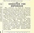 Carmelo Borg Pisani executed, Times of Malta 29 Nov 1942 (excerpt).jpg