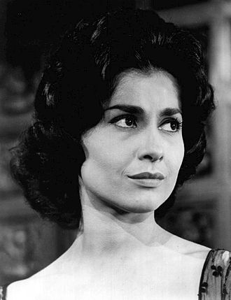 "Carol Lawrence - Lawrence in a scene from the General Electric Theater episode ""The Iron Silence"" (1961)"