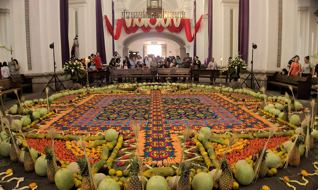 File Carpet And Decoration For Semana Santa In Church La