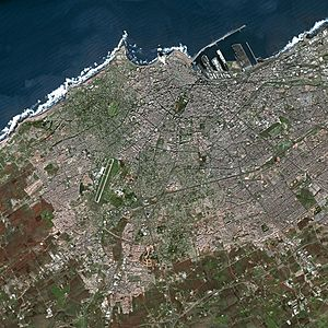 Naval Battle of Casablanca - Casablanca from space.