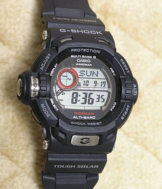 "Casio Wave Ceptor - A Casio G-Shock GW-9200J ""Riseman"" watch incorporating Multi-band 6 technology"