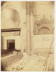 Photographie des travaux de la cathédrale de Marseille