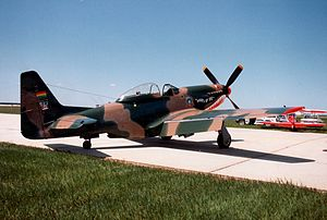Bolivian Air Force - A Cavalier Mustang, formerly of the Bolivian Air Force, parked on a Canadian airfield.