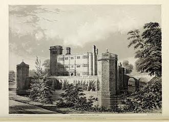 Quadrangular castle - Image: Caverswall Castle