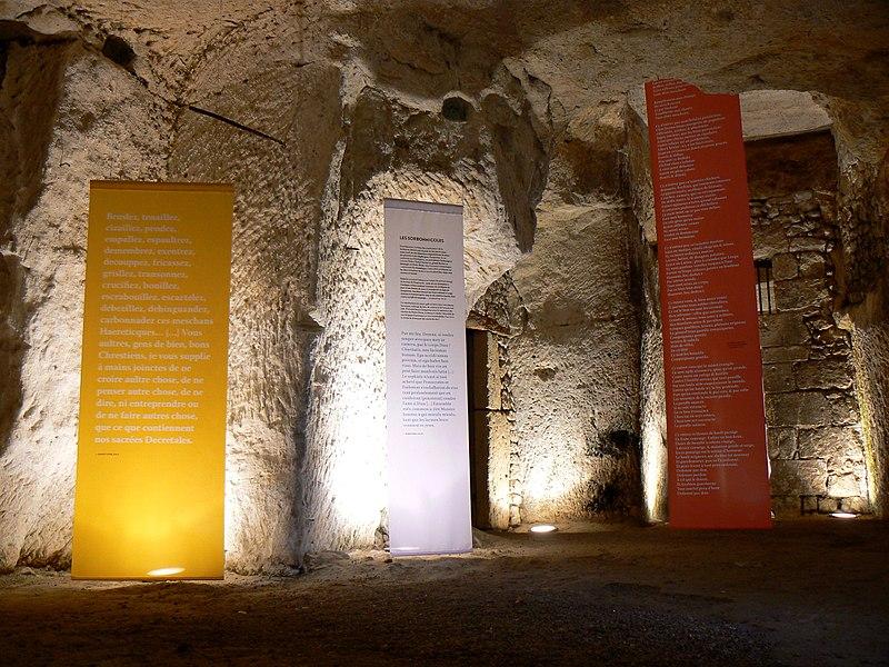 Vue des grandes caves