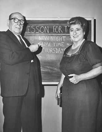 Mrs. G. Goes to College - Image: Cedric Hardwicke Gertrude Berg 1961