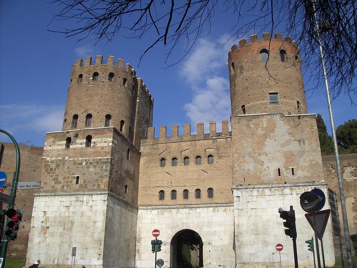 Porta san sebastiano wikipedia - Porte a roma ...