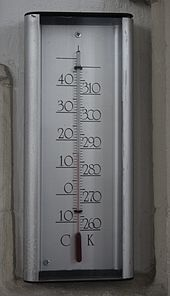 A Thermometer Calibrated In Degrees Celsius Left And