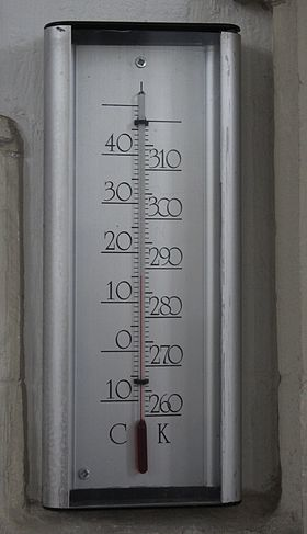 Thermomètre Celsius/Kelvin.
