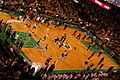 Celtics Warriors pregame shootaround 2007.jpg