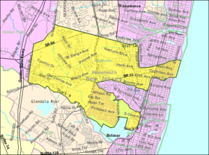 Neptune Township, New Jersey - Image: Census Bureau map of Neptune Township, New Jersey